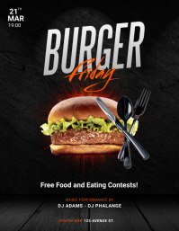 BUrger Party Flyer Template