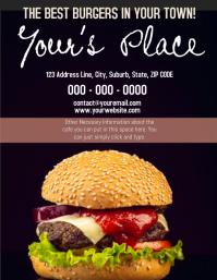 Burger Place Cafe Cafeteria Template