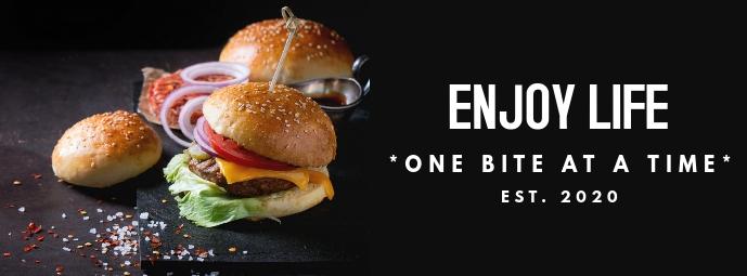burger place facebook cover advertisement des Facebook-omslagfoto template