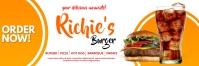 Burger Place Website Advertisement banner template