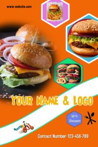 Burger Post Poster template