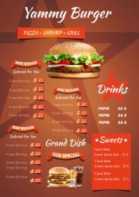 burger poster menu
