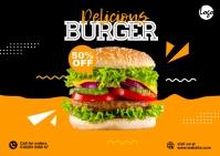 Burger Promo Postcard template