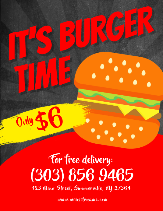 burger promotion flyer template postermywall