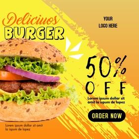 Burger Promotion - Orange & Yellow