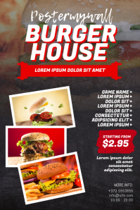Burger Restaurant Flyer Design Template