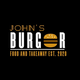 burger restaurant logo template design white