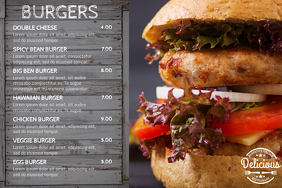 Burger Restaurant Menu Template Affiche