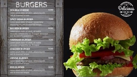 Burger Restaurant Menu Video Template