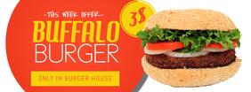 Burger Restaurant offer Facebook Cover Promotion Template