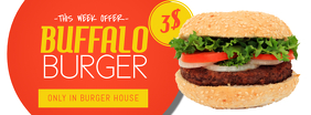 Burger Restaurant offer Facebook Cover Promotion Template