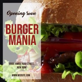 Burger restaurant opening