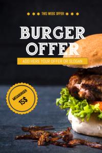 Burger sale flyer template