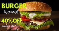 burger sale online ads Anúncio do Facebook template