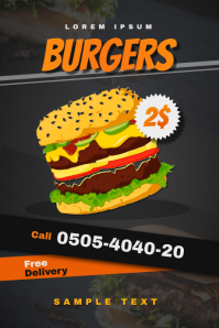 Burger Shop Flyer (Offer) Grafik Tumblr template