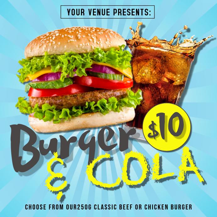 Burger Shop Instagram Poster