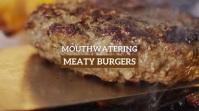Burger Slide show Digital signage Affichage numérique (16:9) template
