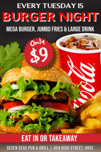 Burger Special Deals Promo Poster Template