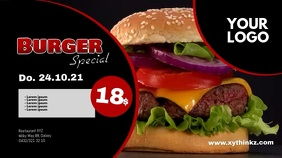 Burger Special Header Banner Template advert Digitale display (16:9)