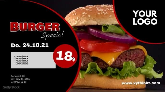 Burger Special Header Banner Template advert Ekran reklamowy (16:9)