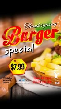Burger Special Menu Video