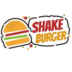 Burger stall logo template