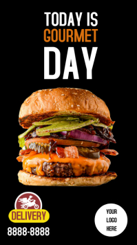 Burger Stories Instagram template