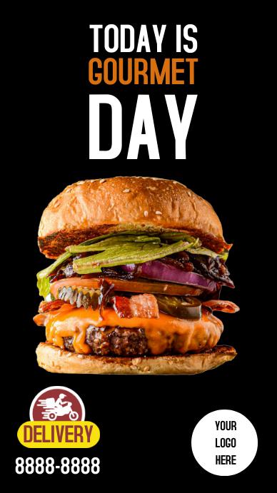 Burger Stories Instagram Instagram-verhaal template