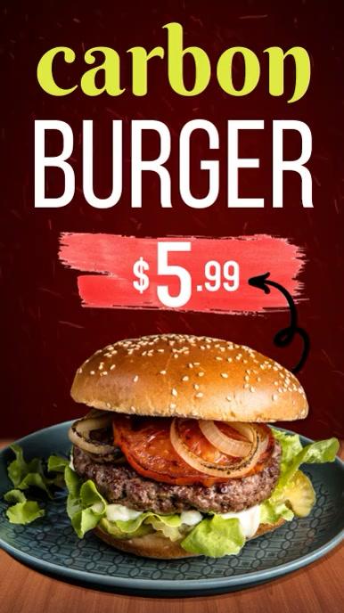 Burger template Historia de Instagram