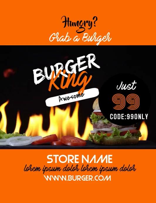 Burger Template Ulotka (US Letter)