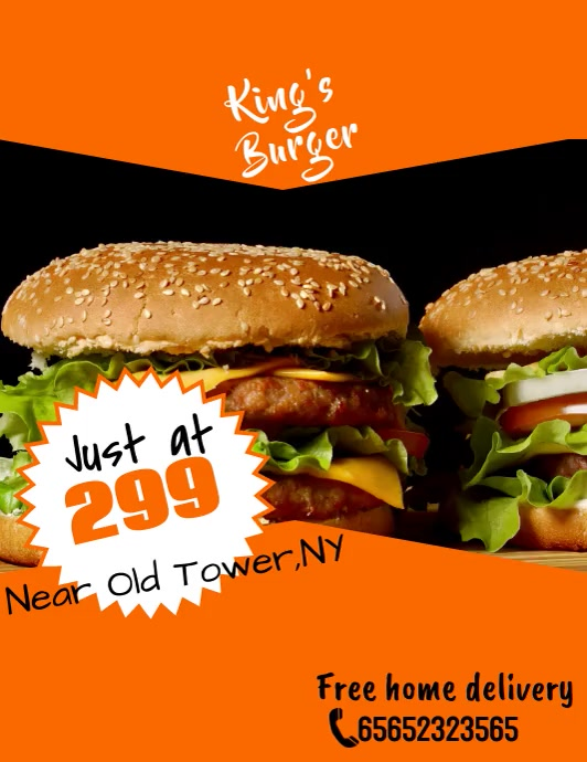 Burger Template Ulotka (US Letter)