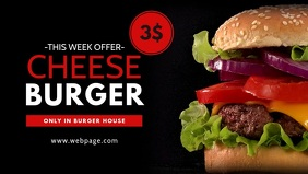 Burger Video Ad For Facebook Cover