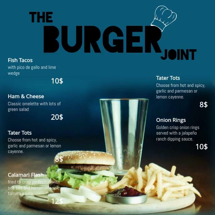 burger video template