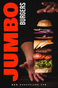 Burgers Ad Poster Template