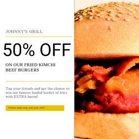 Burgers Instagram Post Template