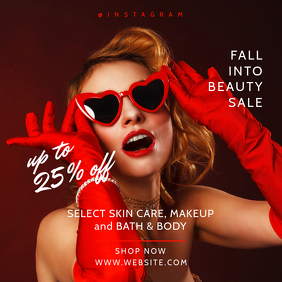 Burlesque Beauty Skin Care Promotional Banner