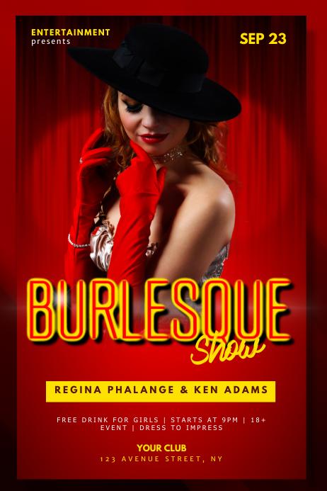 Burlesque Cabaret Show Flyer Template