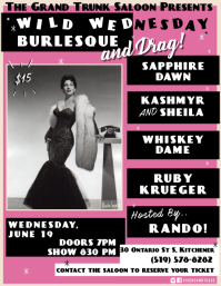 Burlesque Flyer Pamflet (VSA Brief) template