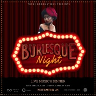 Burlesque Instagram Post Wpis na Instagrama template