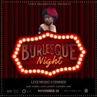 Burlesque Instagram Post template