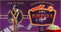Burlesque Night Facebook Shared Image template