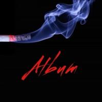 Burning cigarette album cover video template