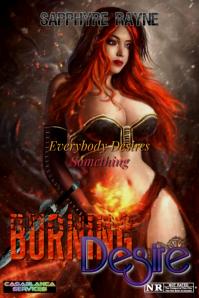 Burning Desire Плакат template