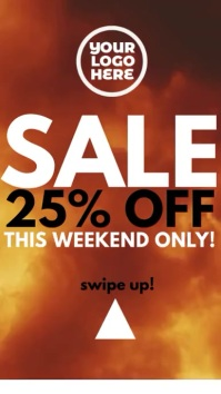 Burning Fire 25% Off Sale Story