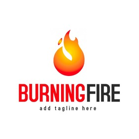 burning fire logo template design