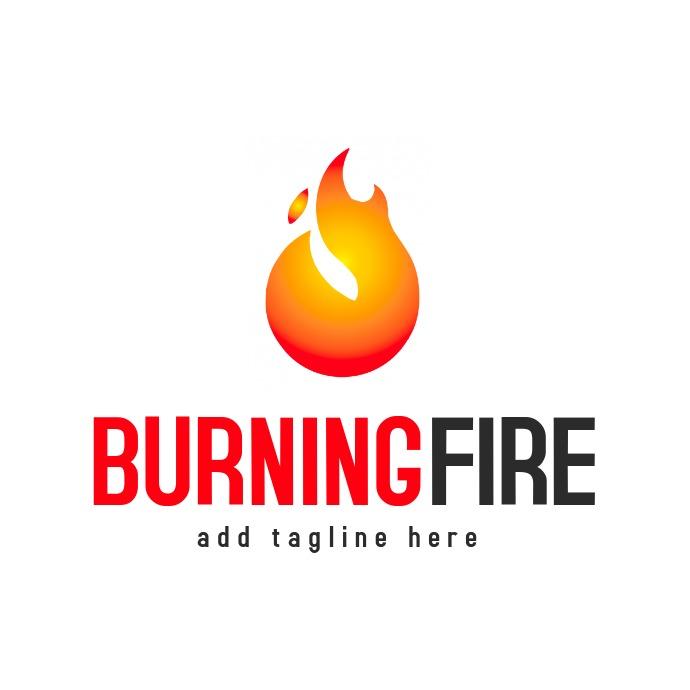 burning fire logo template design 徽标