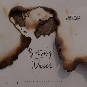 Burning Paper Clean Cd Cover Art Template