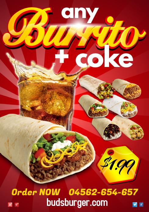Burrito Poster Template