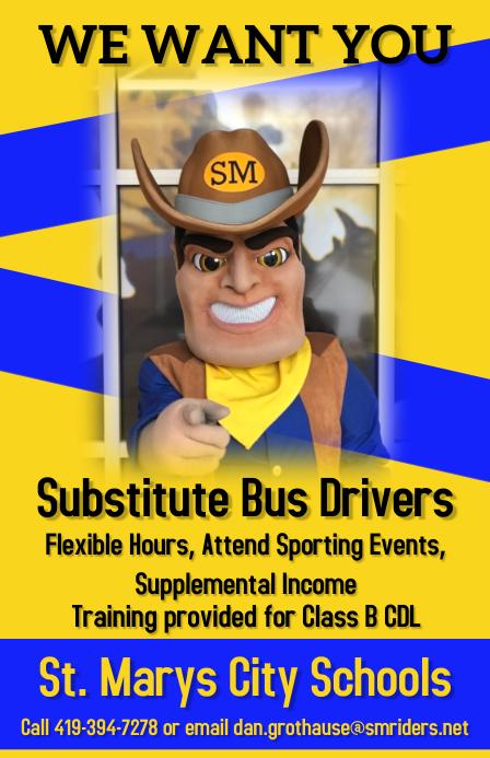 Bus Drivers needed แทบลอยด์ template