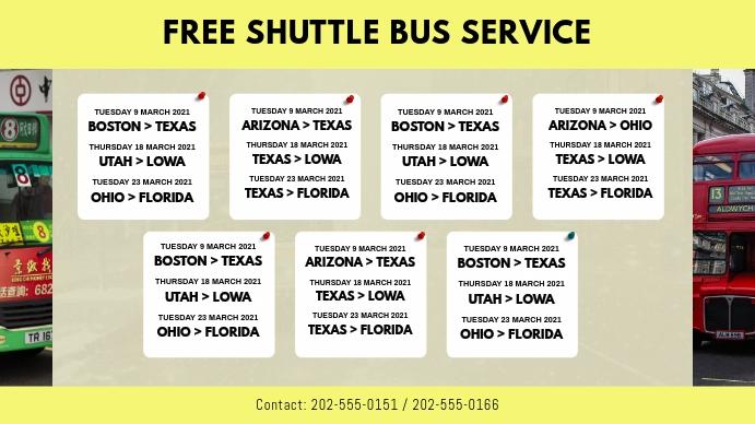 Bus Service Schedule Template Tampilan Digital (16:9)